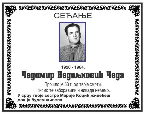 Čedomir Nedelljkovic čeda