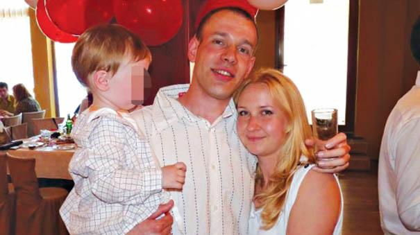 Aleksandar Nedeljković sa porodicom