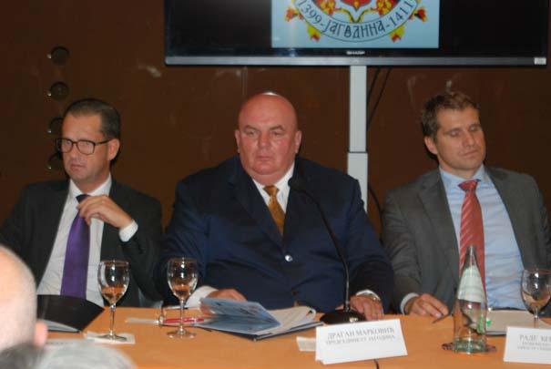Dragan Marković Palma na forumu u Bariju