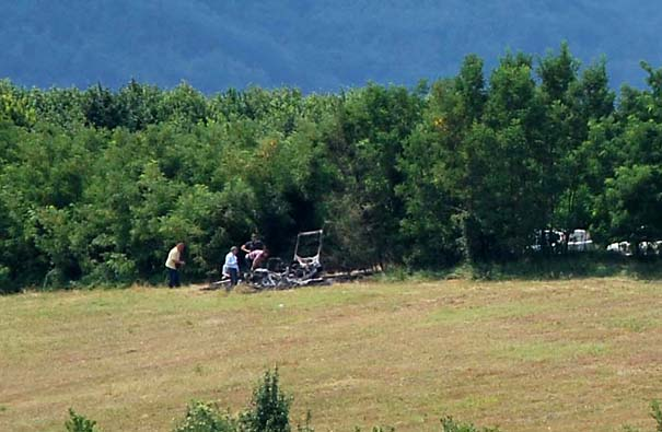 Mesto u Ratkoviću gde je izgreo auto sa žrtvama