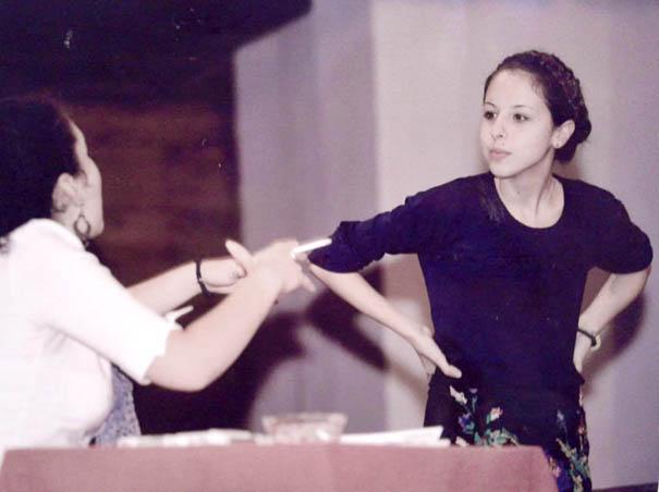 Diana kao Miladinka u predstavi Sumnjivo lice