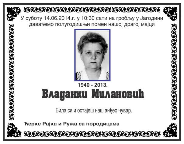 Vladanka Milanovic